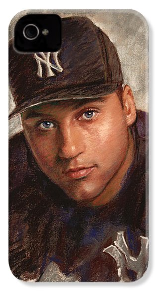 Derek Jeter IPhone 4 Case by Viola El