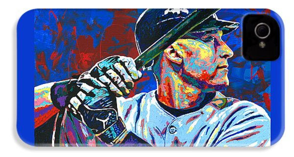Derek Jeter IPhone 4 / 4s Case by Maria Arango