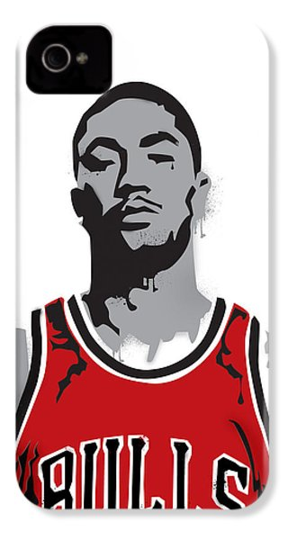 Derrick Rose IPhone 4 Case by Mike Maher