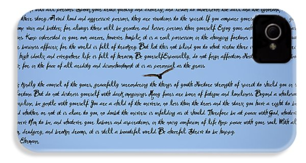 Desiderata IPhone 4 / 4s Case by Bill Cannon