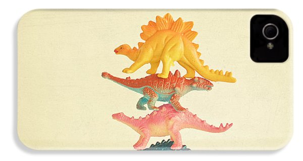 Dinosaur Antics IPhone 4 Case by Cassia Beck