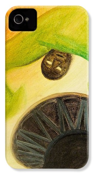 IPhone 4 Case featuring the painting Djembe by Marc Philippe Joly
