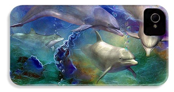 Dolphin Dream IPhone 4 / 4s Case by Carol Cavalaris