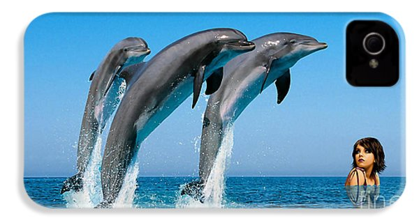 Dolphin Dreams IPhone 4 / 4s Case by Marvin Blaine