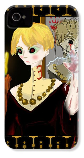 Don't Speak Her Name IPhone 4 Case by Jessica Mitchell