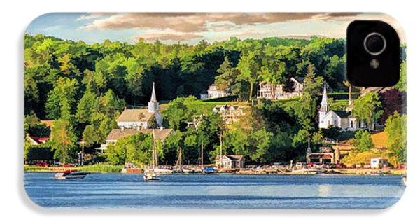 Door County Ephraim Harbor Sunset  Panorama IPhone 4 Case by Christopher Arndt