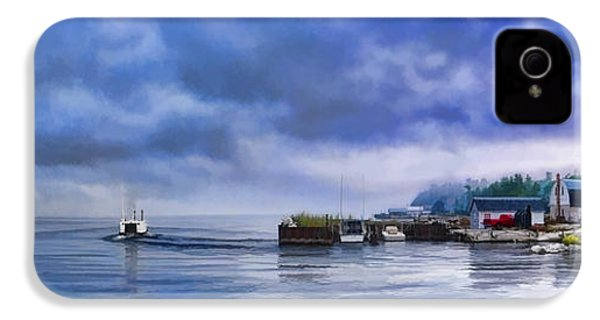 Door County Gills Rock Morning Catch Panorama IPhone 4 Case by Christopher Arndt