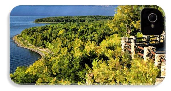 Door County Peninsula State Park Svens Bluff Overlook IPhone 4 Case by Christopher Arndt