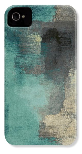 Downtown Blue Rain I IPhone 4 / 4s Case by Lanie Loreth