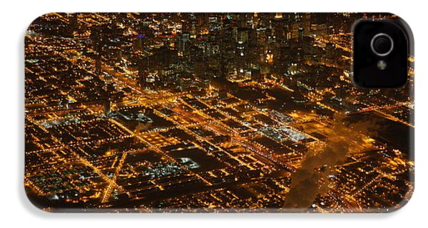 IPhone 4 Case featuring the photograph Downtown Chicago At Night by Nathan Rupert