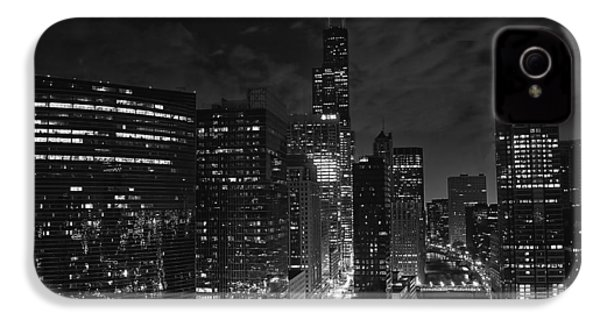 Downtown Chicago At Night IPhone 4 Case by Ricky L Jones