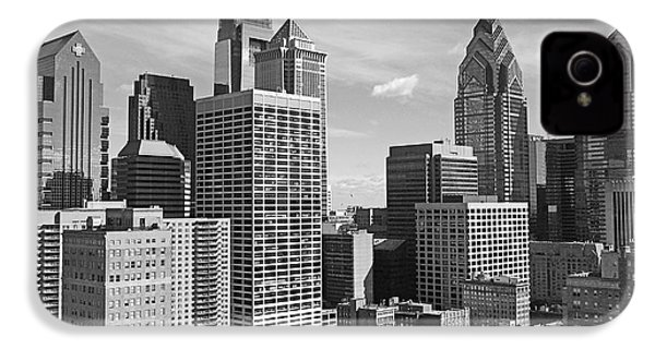 Downtown Philadelphia IPhone 4 Case by Rona Black