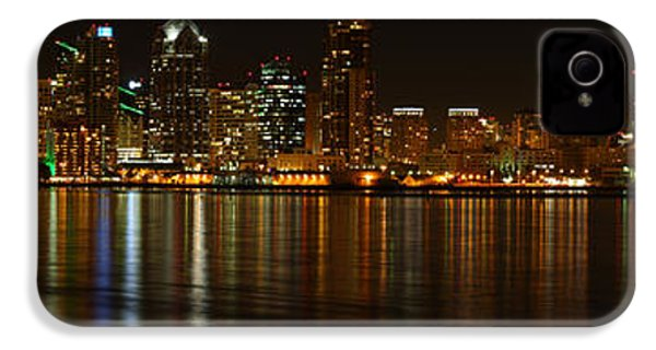 IPhone 4 Case featuring the photograph Downtown San Diego At Night From Harbor Drive by Nathan Rupert