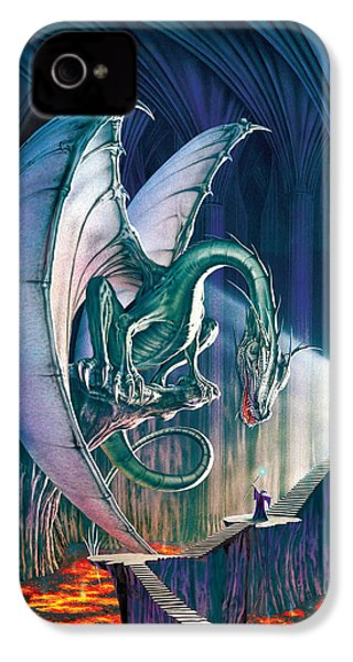 Dragon Lair With Stairs IPhone 4 Case by The Dragon Chronicles - Robin Ko