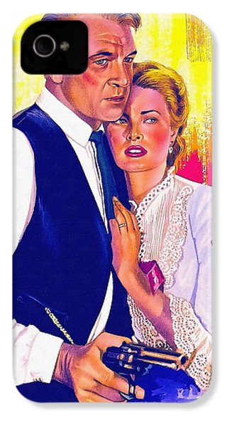 Drawing Of High Noon IPhone 4 Case by Art Cinema Gallery