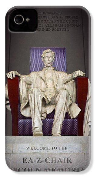 Ea-z-chair Lincoln Memorial 2 IPhone 4 Case