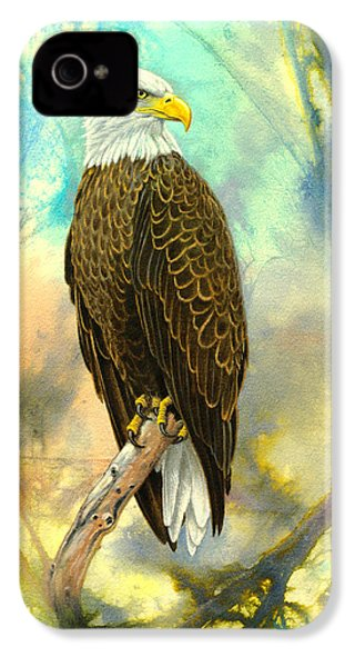 Eagle In Abstract IPhone 4 / 4s Case by Paul Krapf