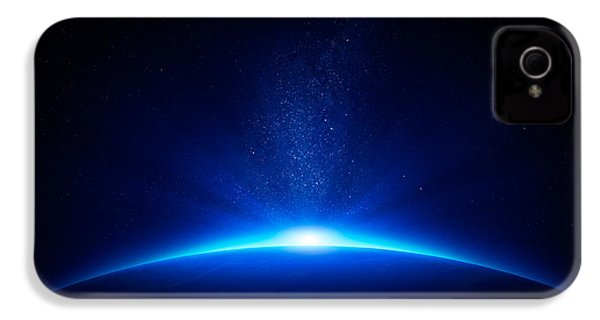 Earth Sunrise In Space IPhone 4 Case by Johan Swanepoel