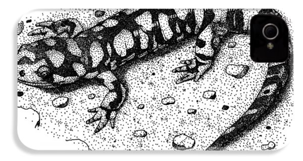 Eastern Tiger Salamander IPhone 4 Case by Roger Hall