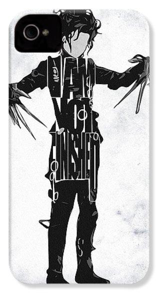 Edward Scissorhands - Johnny Depp IPhone 4 / 4s Case by Ayse Deniz