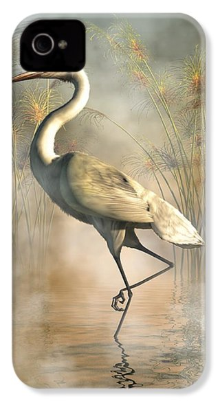 Egret IPhone 4 Case by Daniel Eskridge