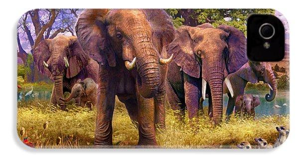 Elephants IPhone 4 Case by Jan Patrik Krasny