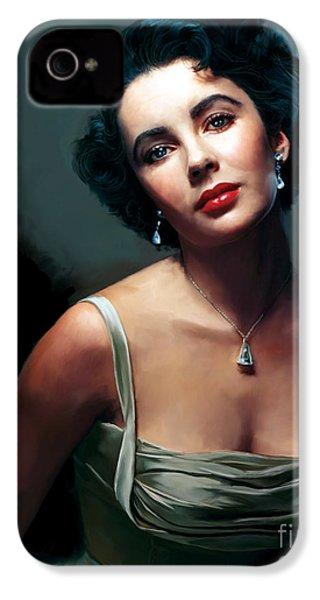 Elizabeth Taylor IPhone 4 Case by Paul Tagliamonte