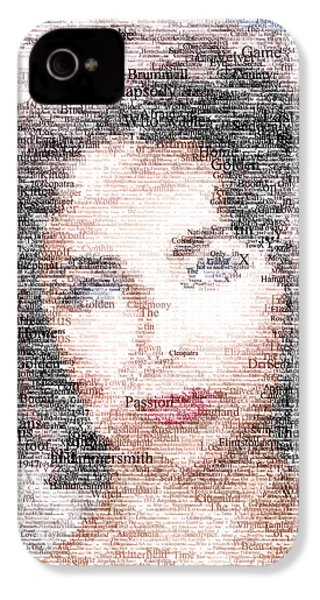 Elizabeth Taylor Typo IPhone 4 Case by Taylan Apukovska