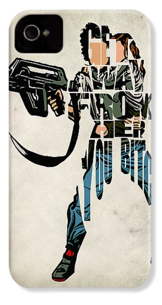 Ellen Ripley From Alien IPhone 4 Case by Ayse Deniz