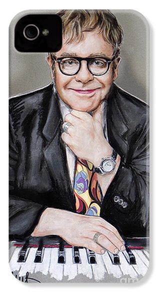 Elton John IPhone 4 Case by Melanie D