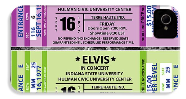 IPhone 4 Case featuring the digital art Elvis Presely Tickets by Marvin Blaine