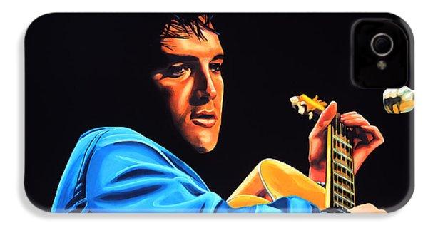 Elvis Presley 2 Painting IPhone 4 / 4s Case by Paul Meijering