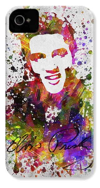 Elvis Presley In Color IPhone 4 Case by Aged Pixel