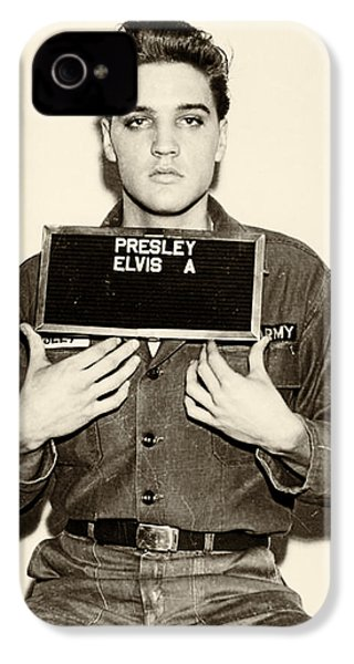 Elvis Presley - Mugshot IPhone 4 Case by Bill Cannon