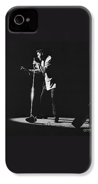 Elvis Presley On Stage In Detroit 1956 IPhone 4 Case by The Harrington Collection