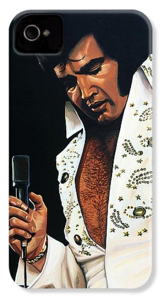 Elvis Presley Painting IPhone 4 Case by Paul Meijering
