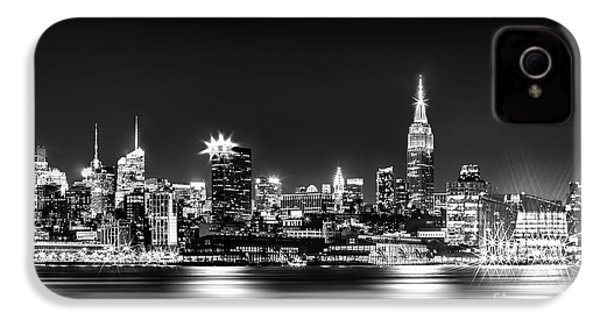 Empire State At Night - Bw IPhone 4 Case by Az Jackson