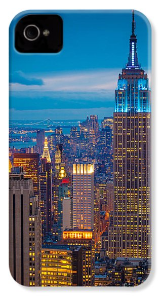 Empire State Blue Night IPhone 4 Case