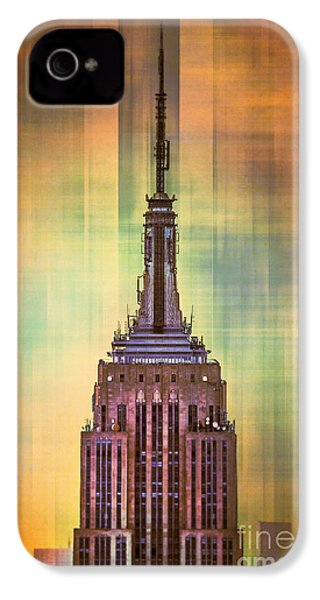 Empire State Building 3 IPhone 4 Case by Az Jackson