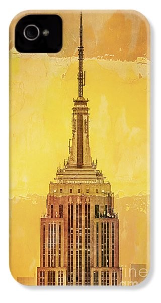 Empire State Building 4 IPhone 4 Case by Az Jackson