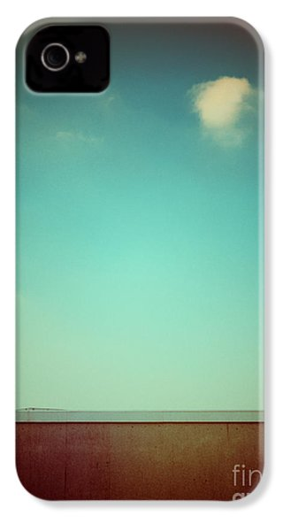 Emptiness With Wall And Cloud IPhone 4 Case by Silvia Ganora