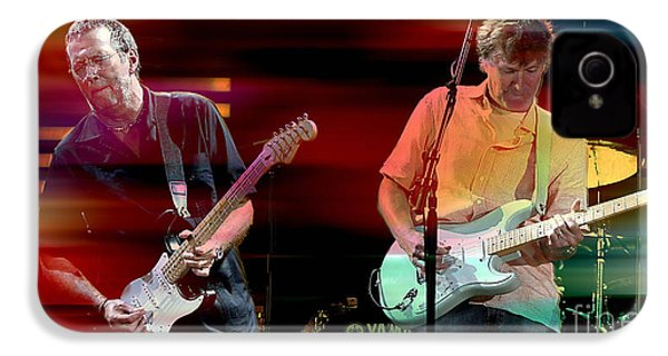 Eric Clapton And Steve Winwood IPhone 4 / 4s Case by Marvin Blaine