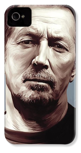 Eric Clapton Artwork IPhone 4 Case by Sheraz A
