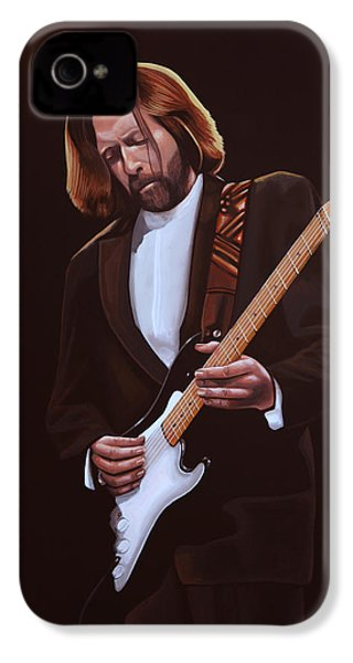 Eric Clapton Painting IPhone 4 Case by Paul Meijering
