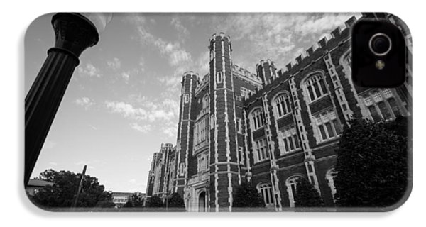 Evans Hall In Black And White IPhone 4 / 4s Case by Nathan Hillis