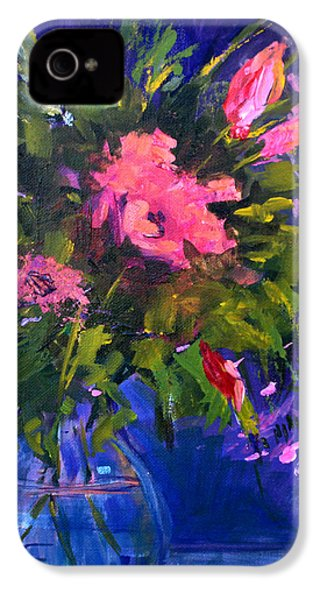 Evening Blooms IPhone 4 Case by Nancy Merkle