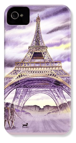 Evening In Paris A Walk To The Eiffel Tower IPhone 4 Case