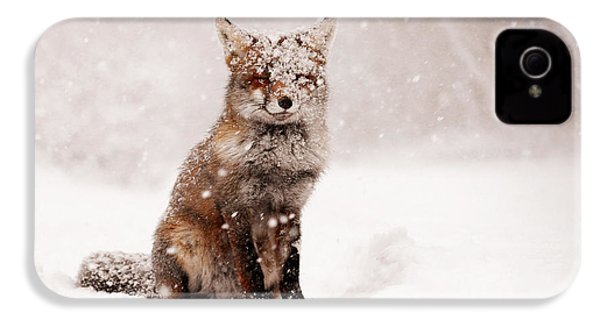 Fairytale Fox _ Red Fox In A Snow Storm IPhone 4 Case