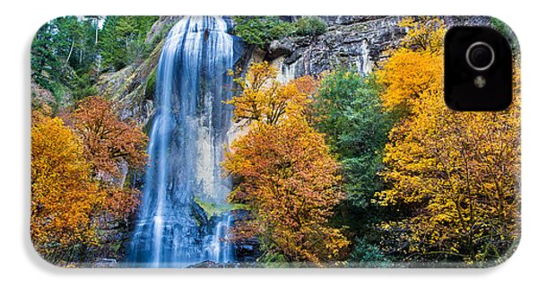 Fall Silver Falls IPhone 4 Case by Robert Bynum