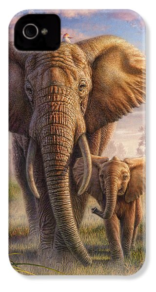 Family Stroll IPhone 4 Case by Phil Jaeger